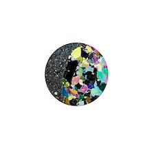 Olivine inclusion in basalt Mini Button