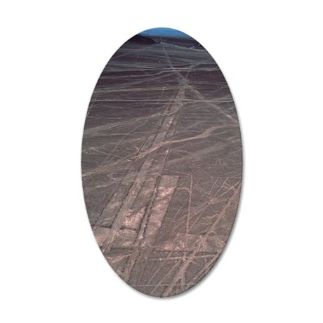 Nazca lines 35x21 Oval Wall Decal