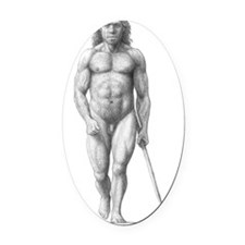 Neanderthal man Oval Car Magnet
