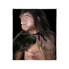Neanderthal man Throw Blanket