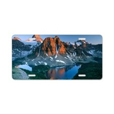 Mount Assiniboine Aluminum License Plate