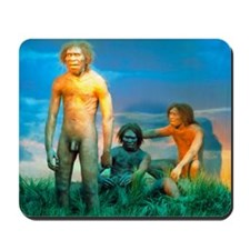 Models of Homo erectus men Mousepad