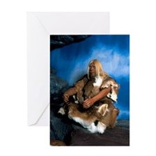 Model of a neanderthal man Greeting Card