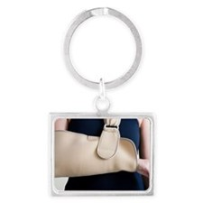 Arm in a sling Landscape Keychain