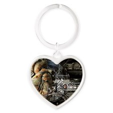 Artificial heart, conceptual artwor Heart Keychain
