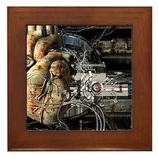 Artificial heart, conceptual artwork Framed Tile