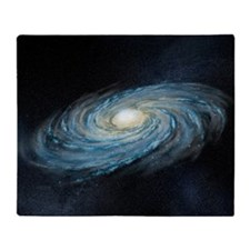 Milky way galaxy, artwork Throw Blanket