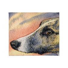 Brindle whippet greyhound dog Throw Blanket