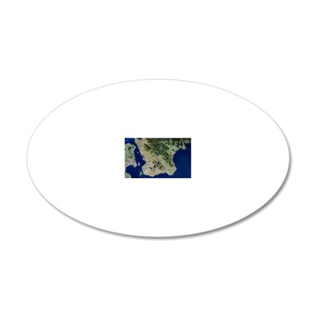 Malmo, satellite image 20x12 Oval Wall Decal