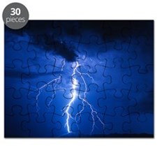 Lightning strikes mountain at night, Arizon Puzzle