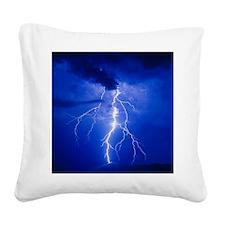 Lightning in Arizona Square Canvas Pillow