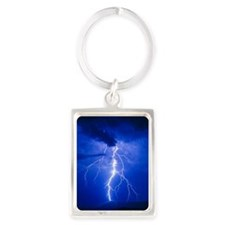 Lightning in Arizona Portrait Keychain