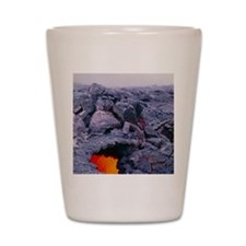 Lava tube, Kilauea volcano, Hawaii Shot Glass