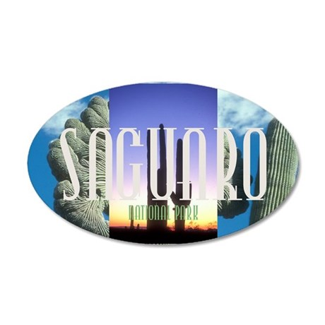 saguaro1 35x21 Oval Wall Decal