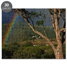 Rainbows over landscape Puzzle
