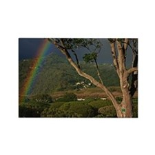 Rainbows over landscape Rectangle Magnet