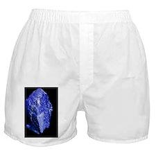 Lapis lazuli, a rare, deep blue gemst Boxer Shorts