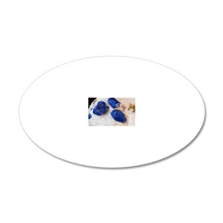 Lapis lazuli crystals 20x12 Oval Wall Decal