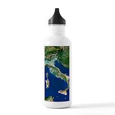 Italy, satellite image Water Bottle