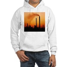Industrial air pollution at suns Hoodie