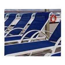 Deck Chairs Throw Blanket
