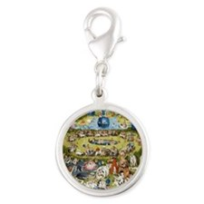 The Garden of Earthly Delights Silver Round Charm