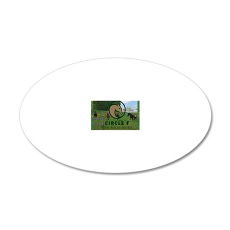 Circle F logo and herd 20x12 Oval Wall Decal