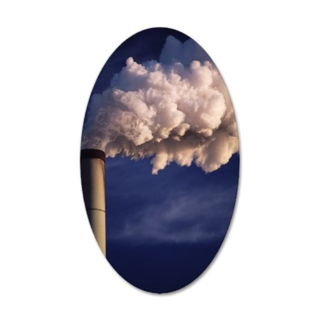 Industrial air pollution 35x21 Oval Wall Decal