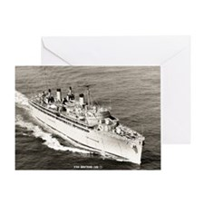 uss hector large framed print Greeting Card
