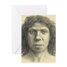 Homo heidelbergensis female Greeting Card