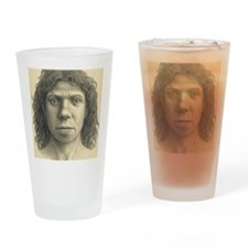 Homo heidelbergensis female Drinking Glass