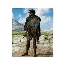 Homo erectus, artwork Throw Blanket