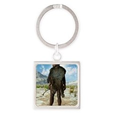 Homo erectus, artwork Square Keychain