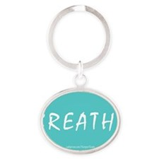 Breathe Magnet Oval Keychain