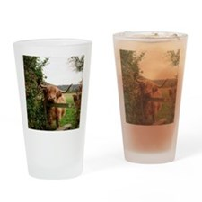Highland cow Drinking Glass