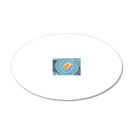 Malarial blood cell, SEM 20x12 Oval Wall Decal