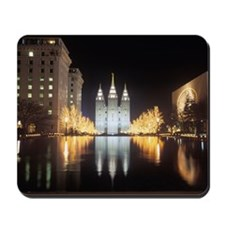 Mormon Temple at night in Salt Lake City Mousepad
