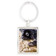 Grey seal pup Portrait Keychain