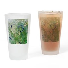 Manicouagan Crater, Canada Drinking Glass