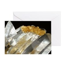 Gypsum and sulphur crystals Greeting Card