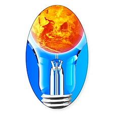 Global warming, conceptual image Decal