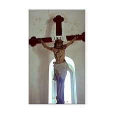 Crucifix in church Rectangle Car Magnet