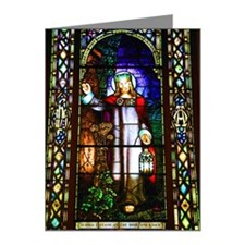 Stained glass window of Chri Note Cards (Pk of 10)