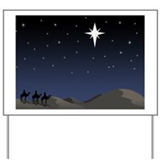 Three wisemen following star Yard Sign