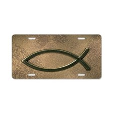 Jesus fish symbol Aluminum License Plate