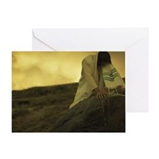 Jesus prays Greeting Card