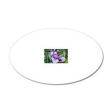 Iris ensata, Higo hybrids 20x12 Oval Wall Decal