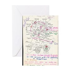 In-orbit medical report Greeting Card
