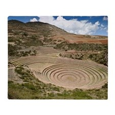 Inca agricultural terraces, Moray, P Throw Blanket