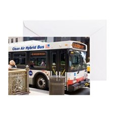 Hybrid bus in Chicago Greeting Card